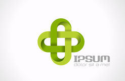Cruz de Logo Pharmacy Green. Medicin da clínica do hospital Imagens de Stock Royalty Free
