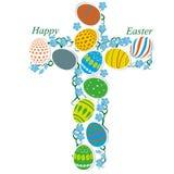 Cruz de los huevos de Pascua Fotografía de archivo libre de regalías