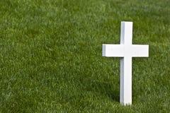 Cruz de mármore solitária Imagens de Stock Royalty Free