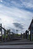 Cruz de madeira Fotos de Stock Royalty Free