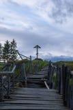 Cruz de madeira Fotografia de Stock