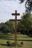 Cruz de madeira Fotos de Stock