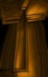 Cruz de madeira com raios Imagens de Stock Royalty Free