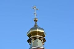 Cruz de madeira rural da igreja Fotos de Stock Royalty Free
