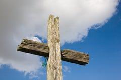 Cruz de madeira velha Fotografia de Stock Royalty Free