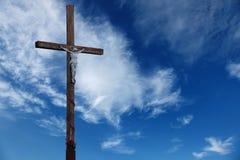 Cruz de madera. Foto de archivo