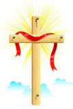 Cruz de madera Foto de archivo libre de regalías