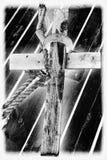 Cruz de madera Imagenes de archivo