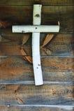 Cruz de madera Fotografía de archivo