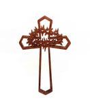 Cruz de madera aislada Fotografía de archivo