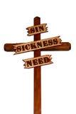 Cruz de madera con decir Imagen de archivo