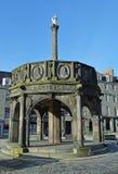 Cruz de Mercat, Castlegate, Aberdeen, Escócia Imagens de Stock
