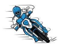 Cruz de Moto stock de ilustración