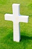 Cruz de mármore do soldado caído Imagens de Stock