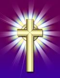 Cruz de oro Foto de archivo