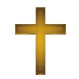 Cruz de oro Imágenes de archivo libres de regalías