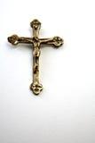 Cruz de oro Fotografía de archivo