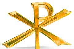 Cruz de oro del Pax Christi Imagen de archivo