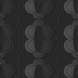 cruz de papel oscura Dot Line Frame oval redondo de la curva del arte 3D ilustración del vector