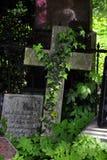 Cruz de pedra velha Foto de Stock