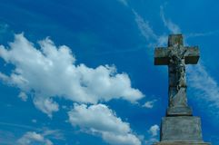 Cruz de piedra Foto de archivo