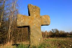 Cruz de piedra Imágenes de archivo libres de regalías
