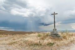 Cruz de piedra Fotografía de archivo libre de regalías