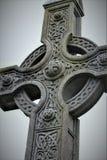 Cruz de piedra céltica imágenes de archivo libres de regalías