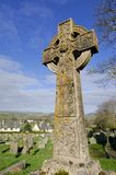 Cruz de piedra céltica Imagen de archivo libre de regalías