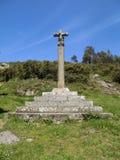 Cruz de piedra en Galicia foto de archivo