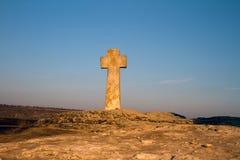 Cruz de piedra en Orhei viejo Fotos de archivo libres de regalías