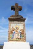 Cruz de piedra grande, Forio, isquiones, Italia fotos de archivo libres de regalías