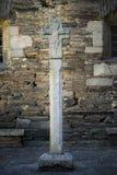 Cruz de piedra gris, granito foto de archivo libre de regalías