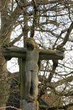 Cruz de piedra de Jesús Foto de archivo
