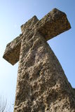 Cruz de piedra religiosa Fotos de archivo libres de regalías