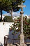 Cruz de piedra - Ronda Foto de archivo libre de regalías