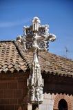 Cruz de piedra tallada Fotografía de archivo libre de regalías