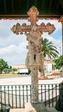 The Cruz de Portugal on square in Silves city Stock Image