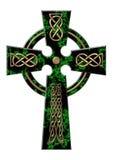 Cruz de un mármol verde