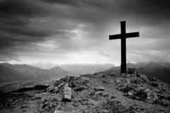 Cruz de Untersberg Imagen de archivo libre de regalías