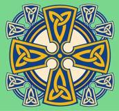 Cruz decorativa céltica Imagen de archivo libre de regalías