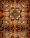 Cruz del órgano de tubo Imagen de archivo libre de regalías