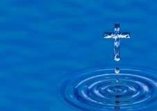 Cruz del agua santa Imagen de archivo