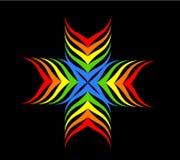 Cruz del arco iris Fotografía de archivo