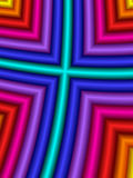 Cruz del arco iris Fotos de archivo libres de regalías