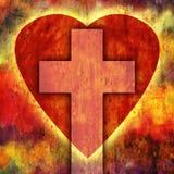 Cruz del corazón Imagen de archivo libre de regalías
