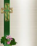 Cruz del cristiano de la invitación de la boda Imagen de archivo