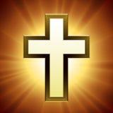Cruz del cristiano del vector Foto de archivo