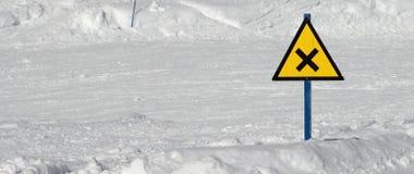 Cruz del esquí Imagenes de archivo