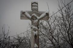 Cruz del invierno fotos de archivo libres de regalías